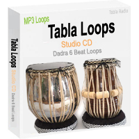 Tabla Loops Studio CD - Dadra 6 Beat Loops - MP3 Tabla Loops
