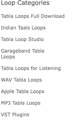 Tabla Loop Categories